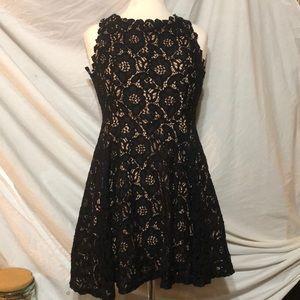 City Studio lace semi formal skater dress